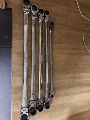 Mountain metric long ratchet wrenches 19-17,18-16,15-13,14-12,10-8mm all work asking 80 firm in N Lakeland for Sale in Lakeland, FL