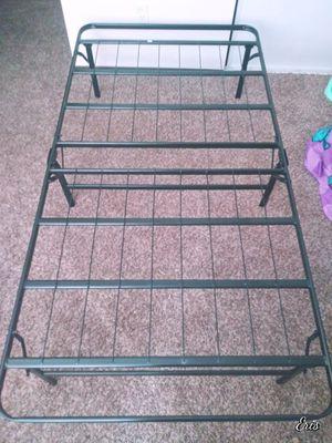 Twin size black wire folding platform bedframe for Sale in Olympia, WA