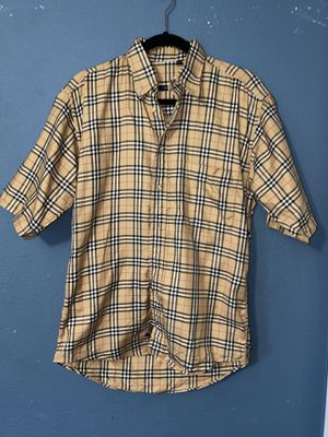 Burberry London Plaid Nova Check Long Sleeve Dress Shirt Sz Small Made in USA for Sale in Los Angeles, CA