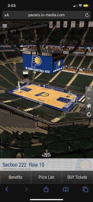 Pacers Opening Night Tickets for Sale in Avon, IN