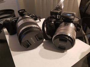 2 Sony Cameras and assorted equipment for Sale in Kent, WA