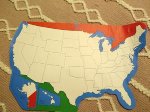 U. S. States Study Map for Sale in Lake Worth, FL