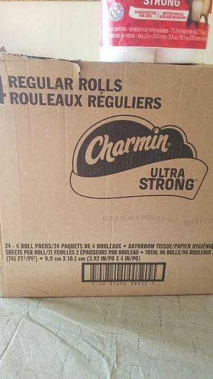 Charmin toilet paper comes in packages of 4 rolls for Sale in Phoenix, AZ