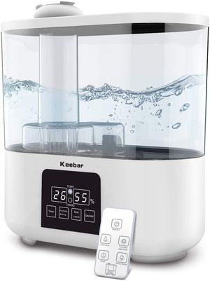3.5L Ultrasonic Humidifier Touch Control With Remote Cool Mist Humidifiers Auto Shut-Off, White for Sale in West Covina, CA