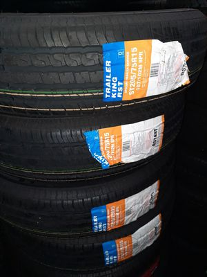 2057515 st trailer tires on sale brand new set of 4 tirss for Sale in Tacoma, WA