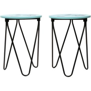 """SET OF 2 ACCENT TABLES 15.59"""" x 15.59"""" x 21.5"""" for Sale in Fort Worth, TX"""