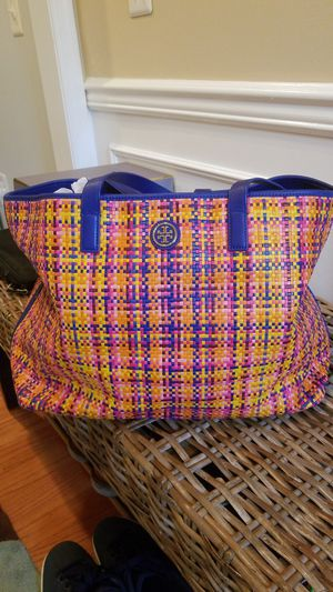 Tory Burch multi colored extra large tote bag for Sale in Lake Ridge, VA