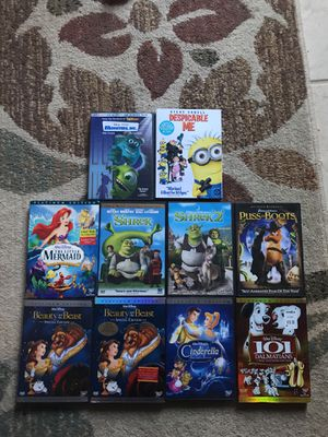 10 Disney and dreamwork DVDs for Sale in Gainesville, VA