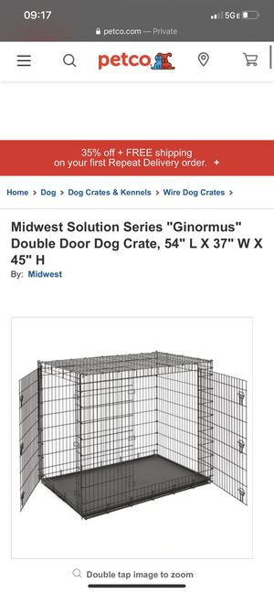 Large, portable dog crate for Sale in Savannah, GA