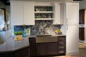 Kitchen cabinets display - appliances & quartz top included! for Sale in Wixom, MI
