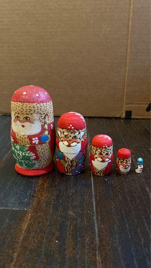 Santa/Christmas nesting dolls for Sale in Houston, TX