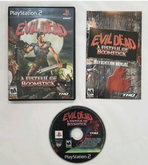 Evil Dead: A Fistful of Boomstick (PlayStation 2 PS2) COMPLETE TESTED - No scratches for Sale in Warwick, RI