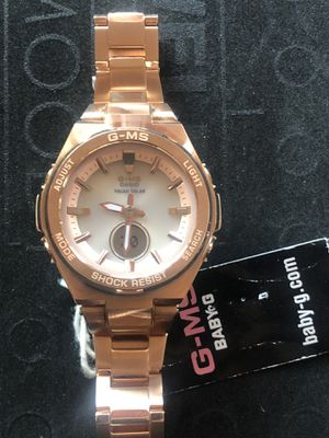 New women solar Casio g-ms baby g watch retail $260 for Sale in Los Angeles, CA