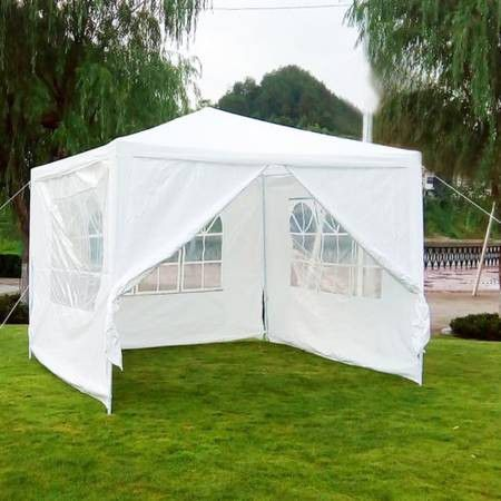 NEW 10' x 10' Outdoor Canopy Tent w/4 walls, fully enclosed