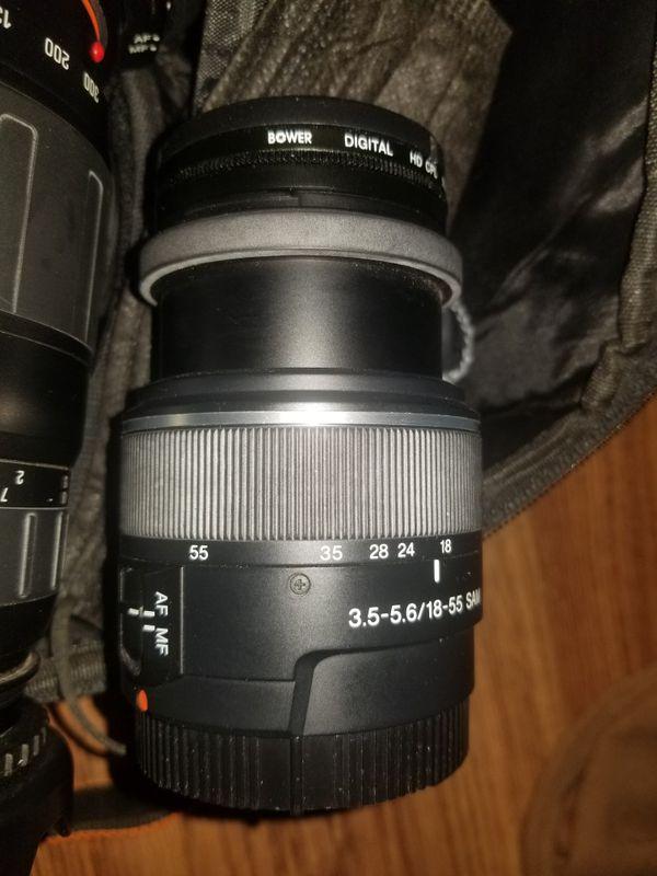 Alpha 500 Camera With 5 Lenses 8 Diffrent Filters & Tripod.