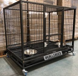 """Dog Pet Cage Kennel Size 43"""" Large Folding New In Box 📦 for Sale in Chino Hills,  CA"""