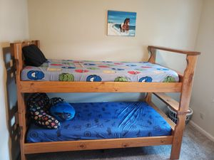 Selling this bunk beds or you can break down and separate them and you will have your space for Sale in Charlotte, NC