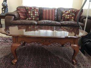 Leather Couch set and tables for Sale in Fremont, CA