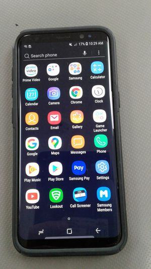 Samsung Galaxy S8 SM-G950U 64gb midnight black phone for Sale in Oakland Park, FL