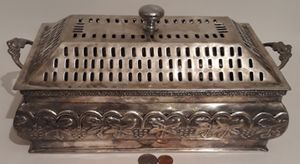 "Vintage Metal Silver Storage Box, Container, Large Size, 14"" x 7"" x 5"", Metal Box, Handles, Home Decor, Table Display, Shelf Display for Sale in Lakeside, CA"