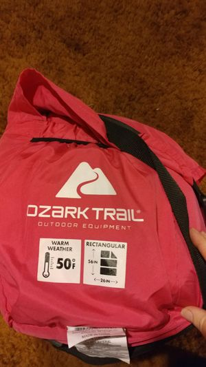 New!! Rectangular sleeping bag, ozark trail sleeping bag, warm weather for Sale in Phoenix, AZ
