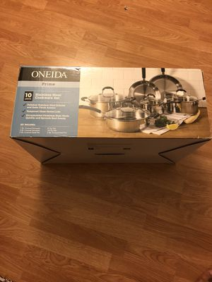 Brand new Oneida prime cookware stainless steel set for Sale in Frederick, MD