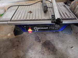 Kobalt 7in wet tile table saw for Sale in Dublin, OH