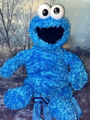 """Sesame Street Cookie Monster 20"""" plush backpack for Sale in Bellflower, CA"""