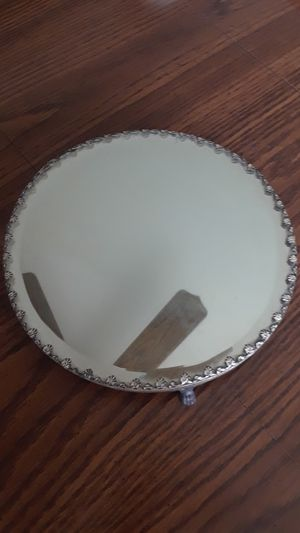 Antique Mirrored Dresser Tray w/Three Feet for Sale in New Lenox, IL