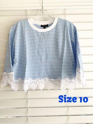 Topshop 3/4 Length Sleeve Crop Top (Size 10) for Sale in Baldwin Hills, CA