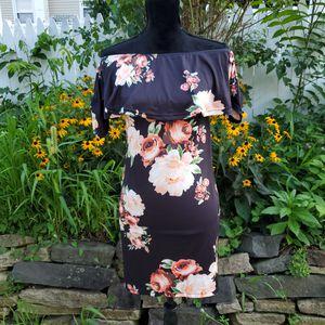 Floral Print Off Shoulder Mini Dress for Sale in Rockaway, NJ