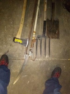 Axe pitchfork take shovel tree limber for Sale in Spokane, WA