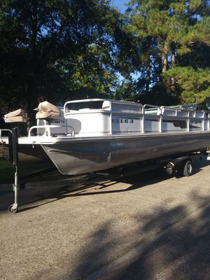 1999 24ft skeeter pontoon boat for Sale in Humble, TX