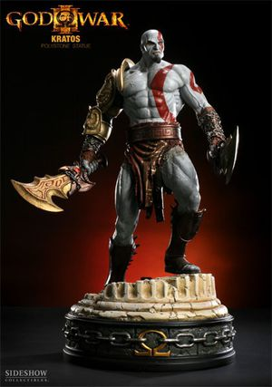 Sideshow collectibles 1/4 God Of War Kratos statue Playstation for Sale in Las Vegas, NV
