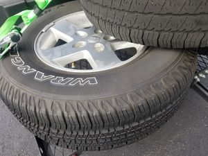 4 Jeep Wrangler Wheels/Tires with Rims Free Delivery for Sale in Romeoville, IL