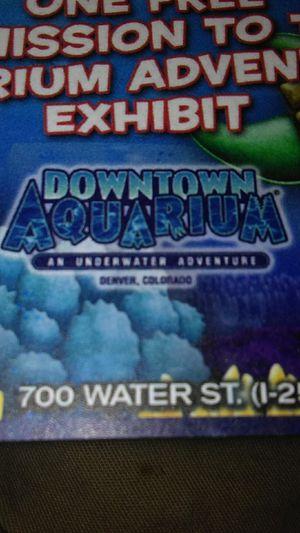 Downtown aquarium, an under water adventure for Sale in Denver, CO