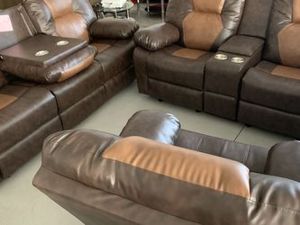 Leather Sofa Set Recliner for Sale in Norcross,  GA