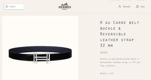 Hermès Men's Leather Belt for Sale in Marina del Rey, CA