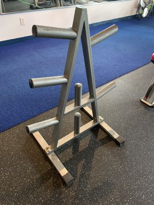 Steel Olympic weight plate tree 6 tier for Sale in Holmes Beach, FL
