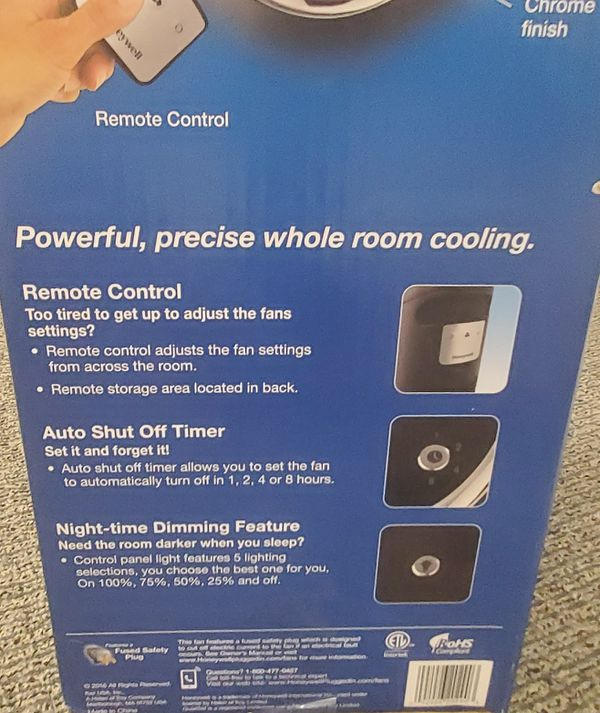 "Honeywell 40"" Whole Room Tower Fan Quietset"