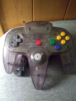 Nintendo 64 Original Atomic Purple Controller for Sale in Terrell, TX