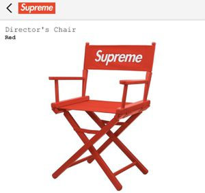 Supreme Director's Chair Red for Sale in Jurupa Valley, CA