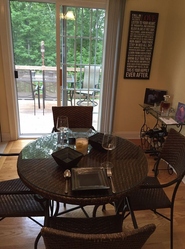 *Beautiful dining table for sale that seats four*