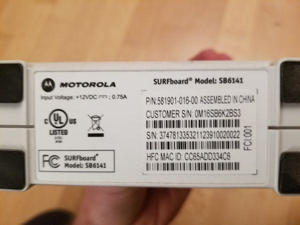 SURFboard SB6141 modem