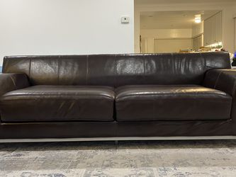 Ikea Kramfors Dark Brown Leather Sofa for Sale in Redondo Beach,  CA