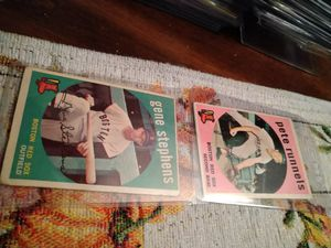 1959 Topps Baseball Cards Lot of 12 Total Cards for Sale in Port Richey, FL