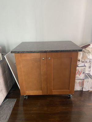 Marble granite counter top with cabinet kitchen island for Sale in Cheverly, MD