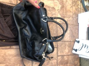 Black leather Kate Spade bag for Sale in Holland, PA