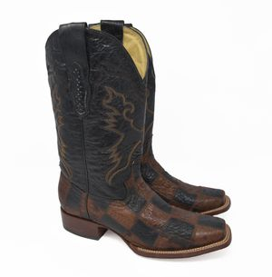 Corral Western Cowboy Boots Men's Sz 10M Black & Brown Leather Patch Quilt 85066 for Sale in Aurora, IL