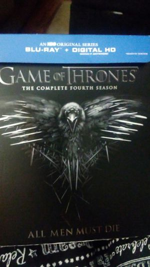 Game of Thrones season 4 blu-ray + digital HD for Sale in Knoxville, TN